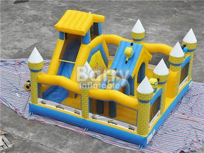China 20 Years Factory Yellow Minions Kids Indoor Inflatable Playground Price BY-IP-082